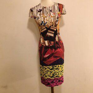 Harp Hazzard Print Silk Dress